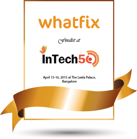 Whatfix chosen as a finalist for InTech50, 2015