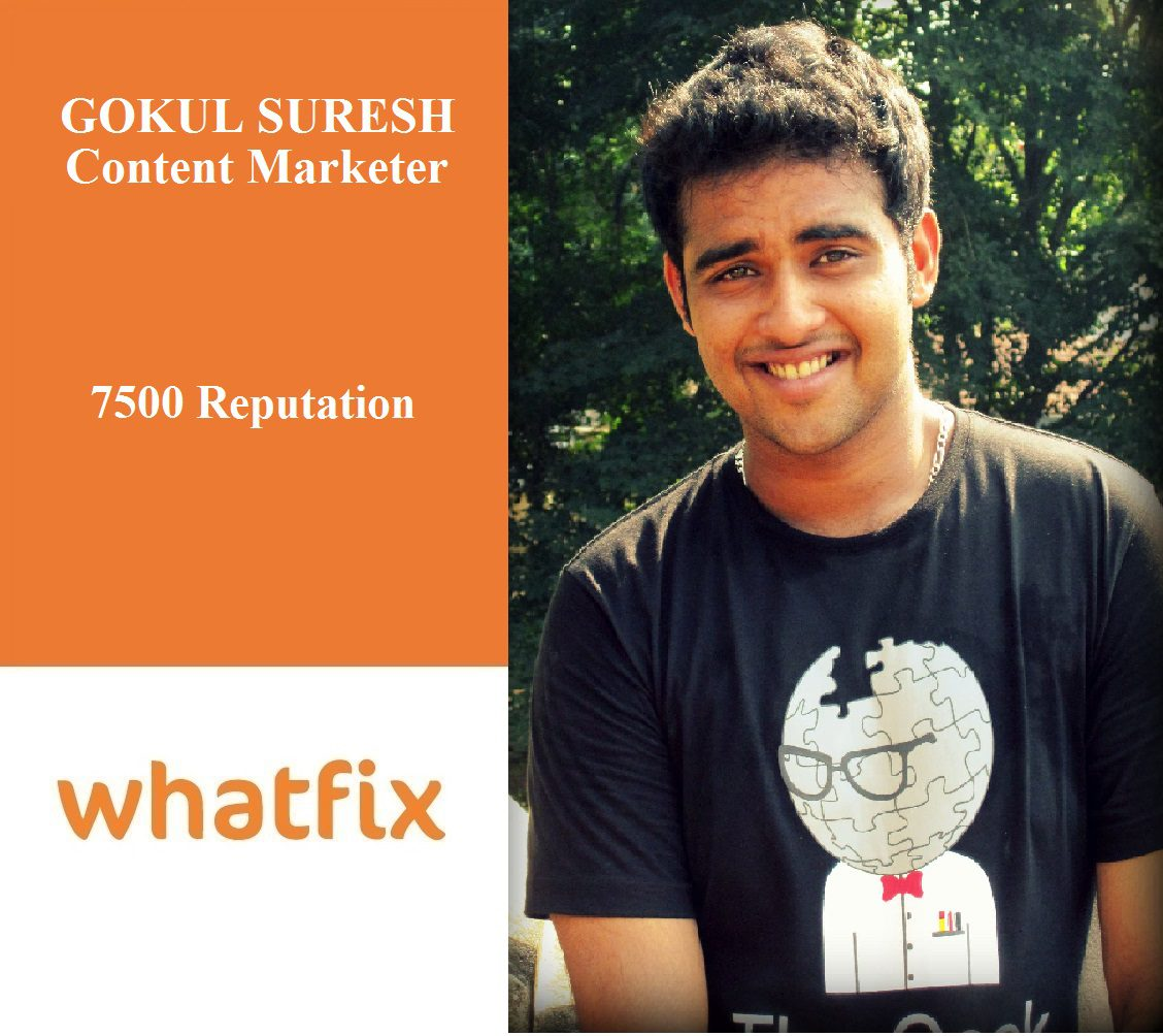 Whatfix Careers: Meet Gokul, Our Content Marketer