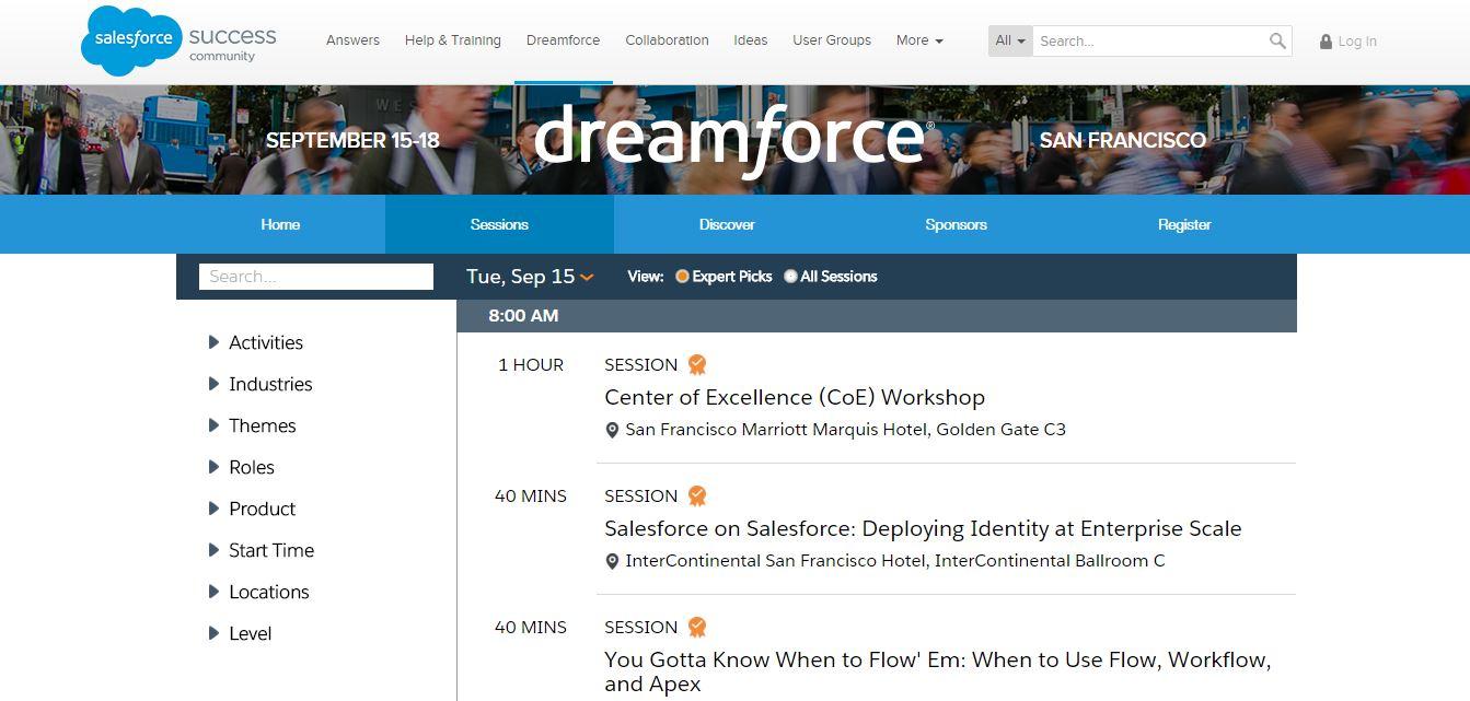 Dreamforce Agenda