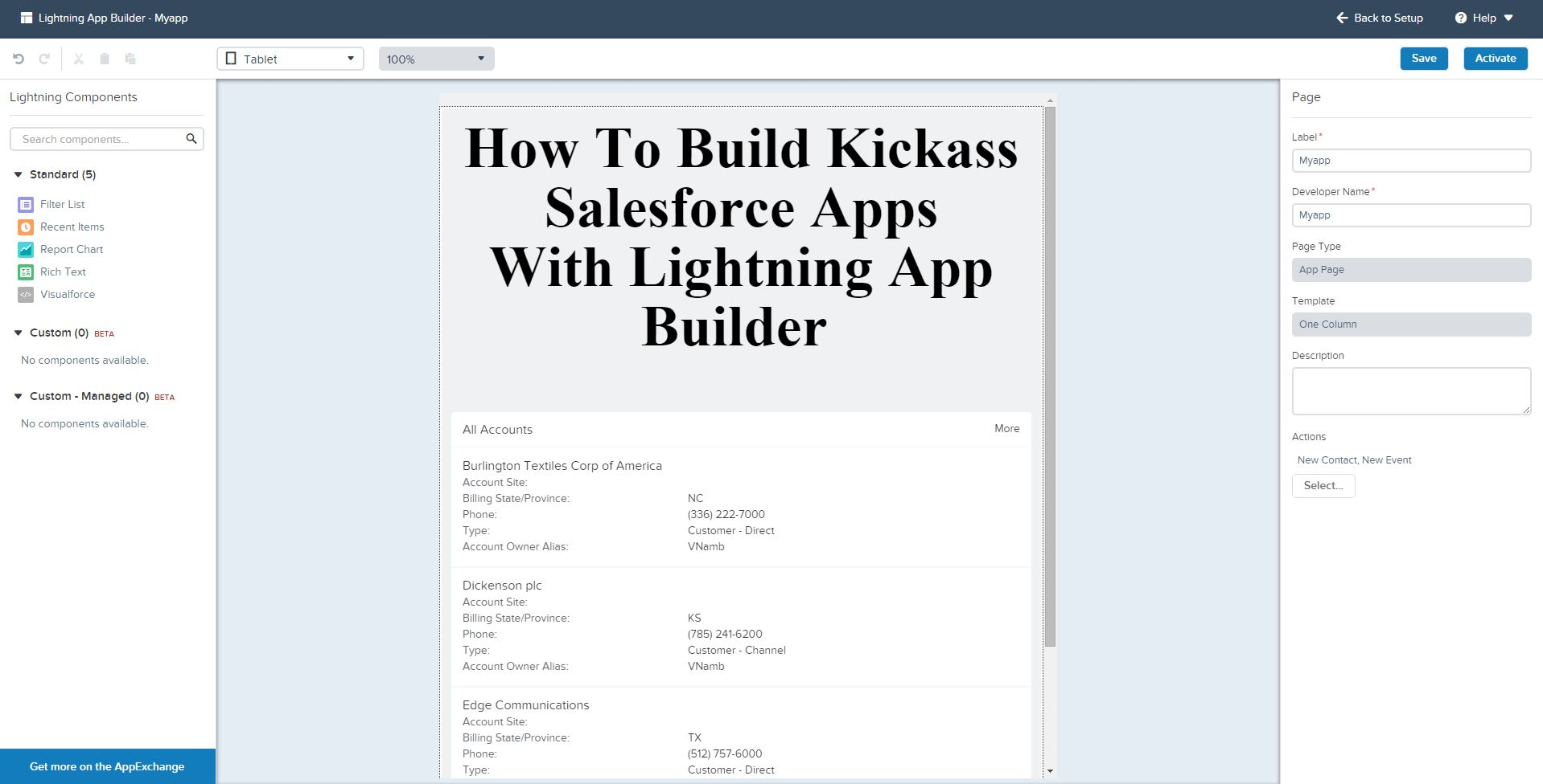 How To Build Kickass Salesforce Apps With Lightning App Builder