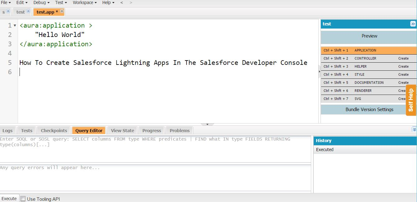 How To Create Salesforce Lightning Apps In The Salesforce Developer Console