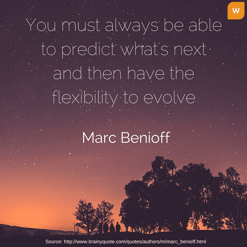 Marc Benioff on being flexible