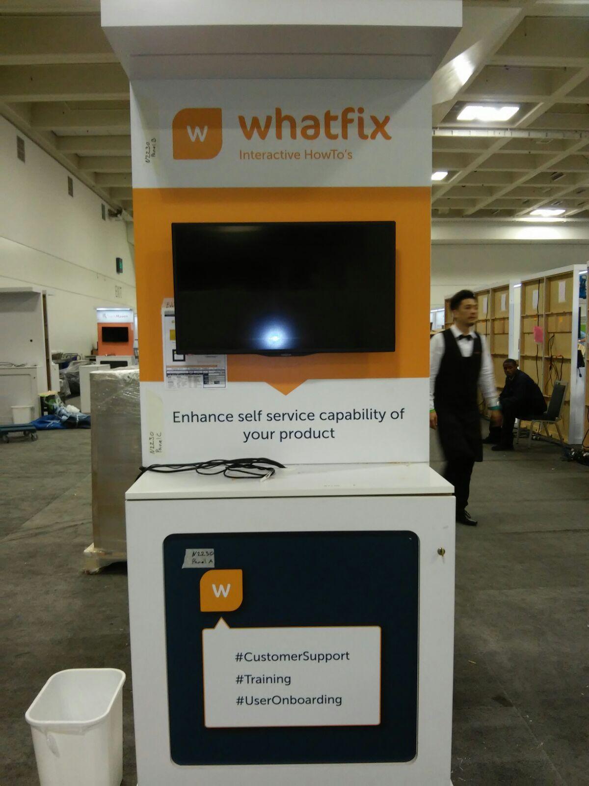 Dreamforce 2015 Whatfix Booth