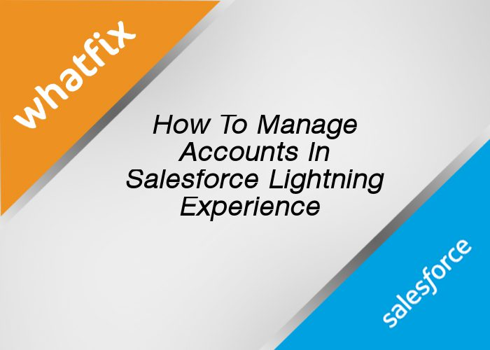 Accounts In Salesforce Lightning Experience