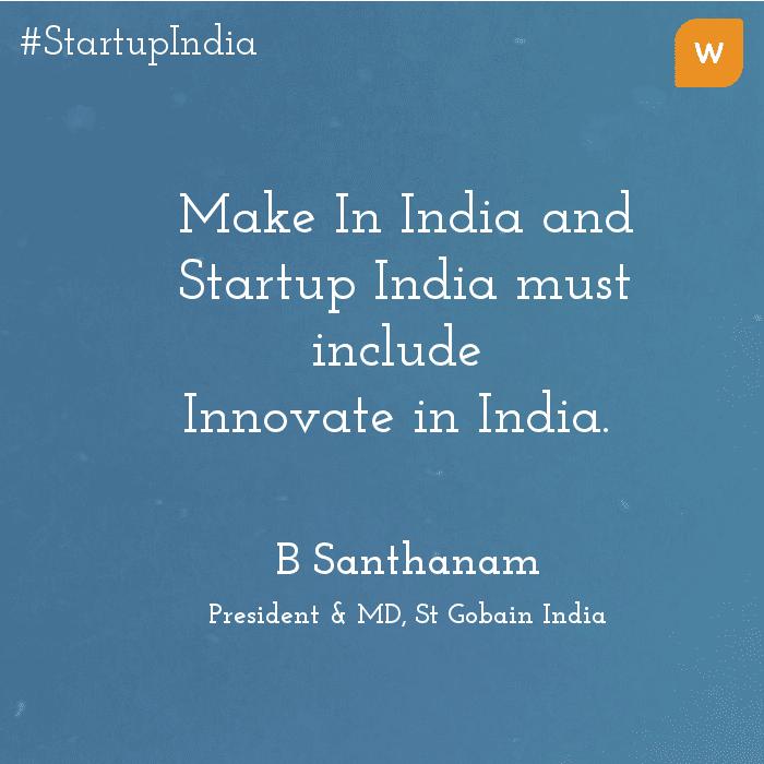 Startup India Quotes - B Sanrhanam