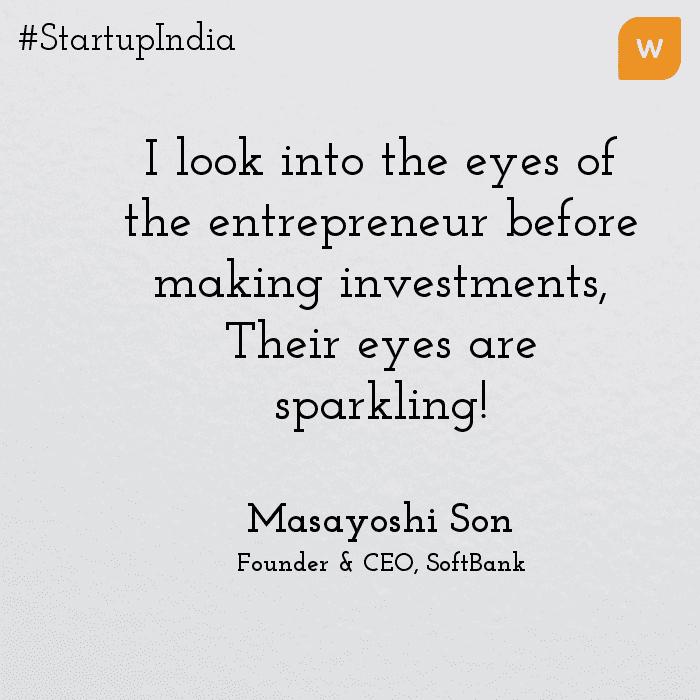 Startup India Quotes - Masayoushi son