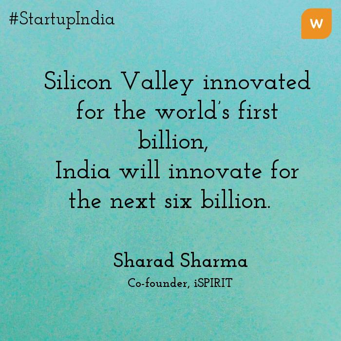 Startup India Quotes - Sharad Sharma