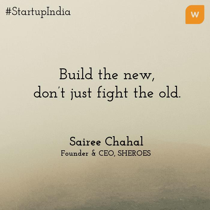 Startup India Quotes - Sairee Chahal