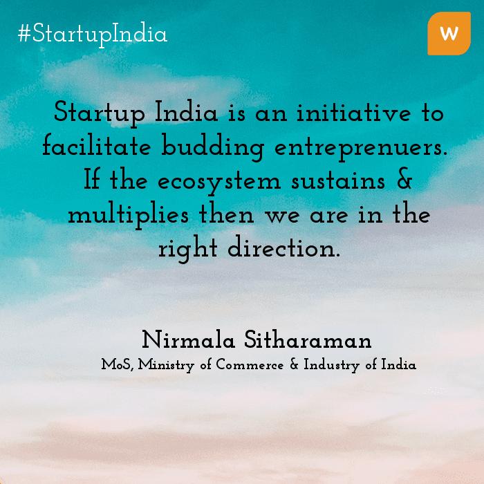 Startup India Quotes - Nirmala Sitharaman