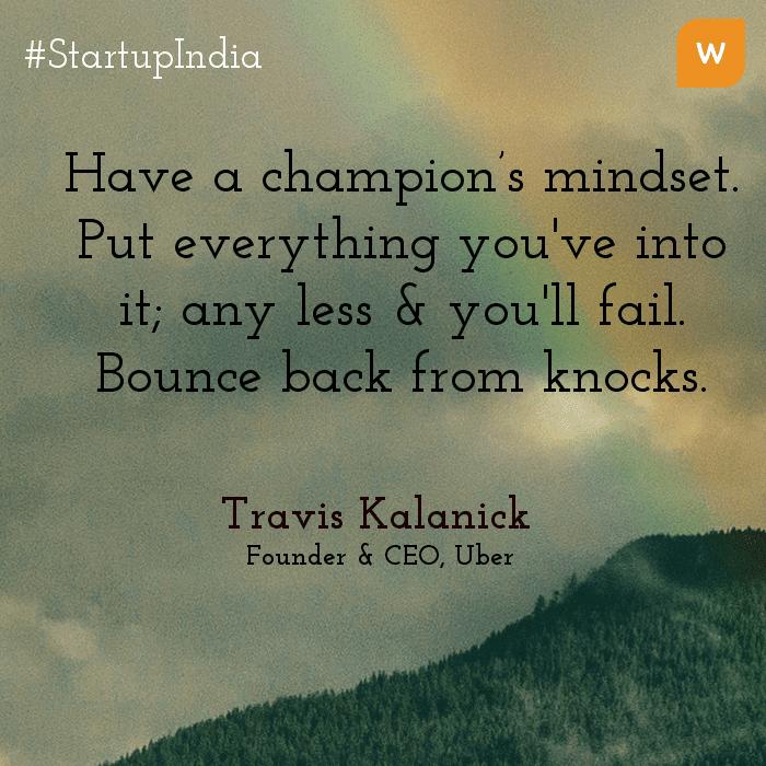 Startup India Quotes - Travis - UBER