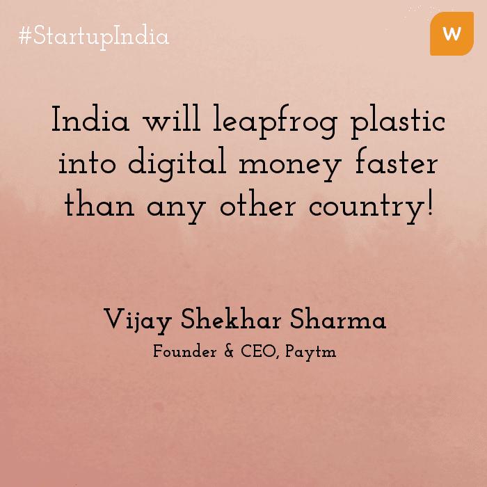 Startup India Quotes - Vijay Shekhar - Paytm
