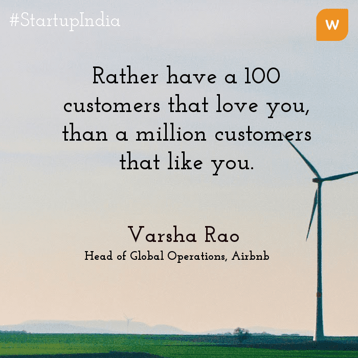 Startup India Quotes - Varsha Rao