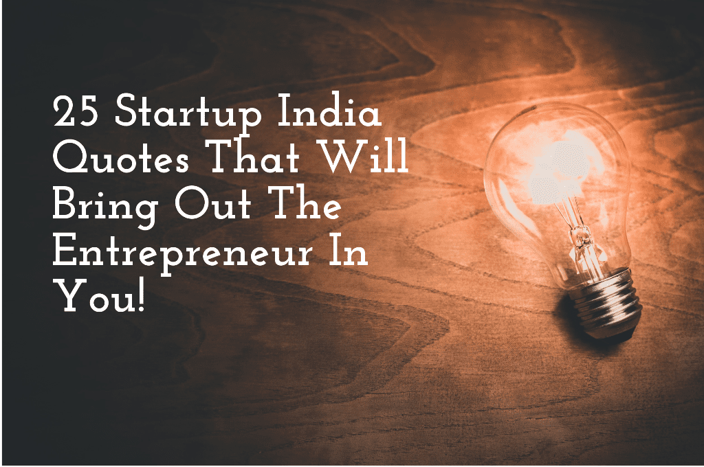 Startup India Quotes