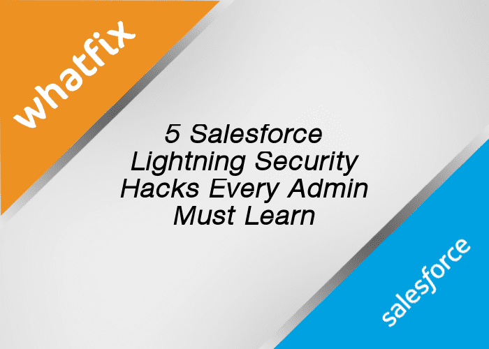 Salesforce Lightning security