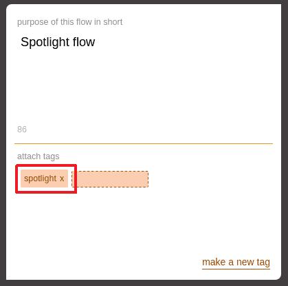 Visual representation of Spotlight feature