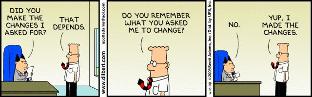 Change Management to a layman - Dilbert