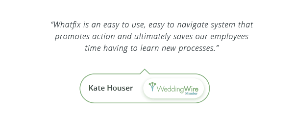 WalkMe Alternatives - Testimonial by Kate Houser, Wedding Wire