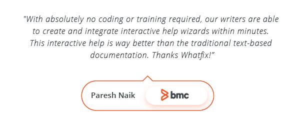 WalkMe Alternative - Testimonial by Paresh Naik, BMC