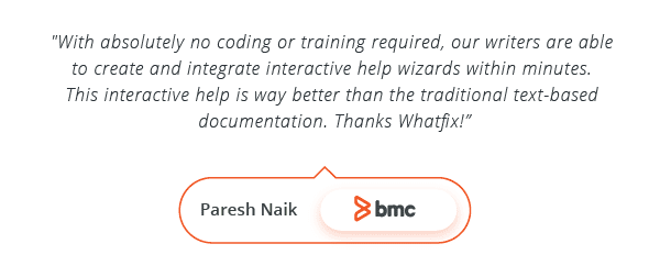 WalkMe Alternative - Testimonial by Paresh Naik, BMC