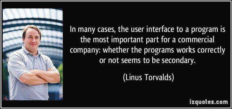 Linus Torvalds on UI design