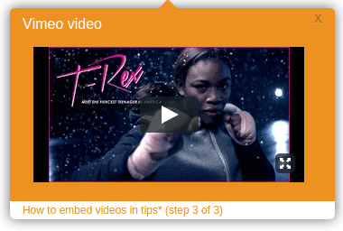 Video embed on Whatfix tooltip