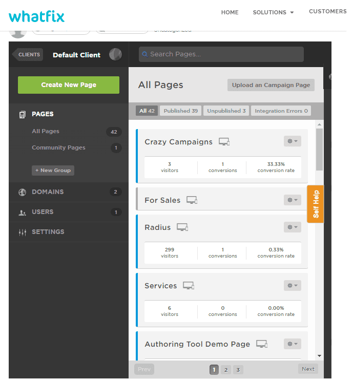 Whatfix iframe in Unbounce