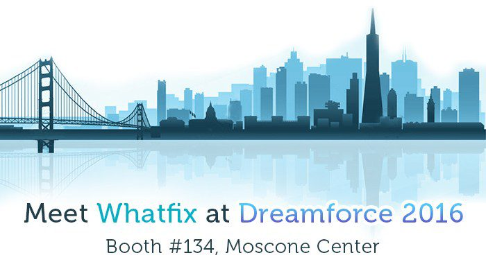 Meet Whatfix at Dreamforce booth number #134