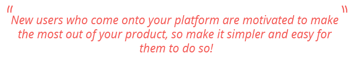 User Onboarding Experience - Quote #1
