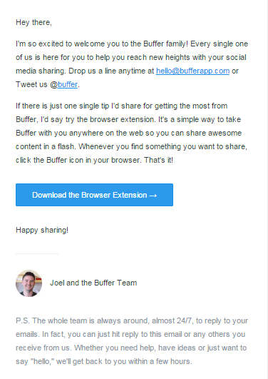 Buffer CEO email