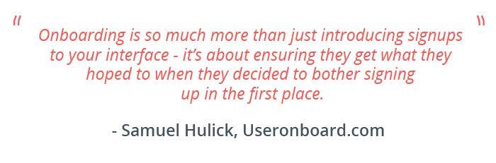 User Onboarding - Samuel Hulick