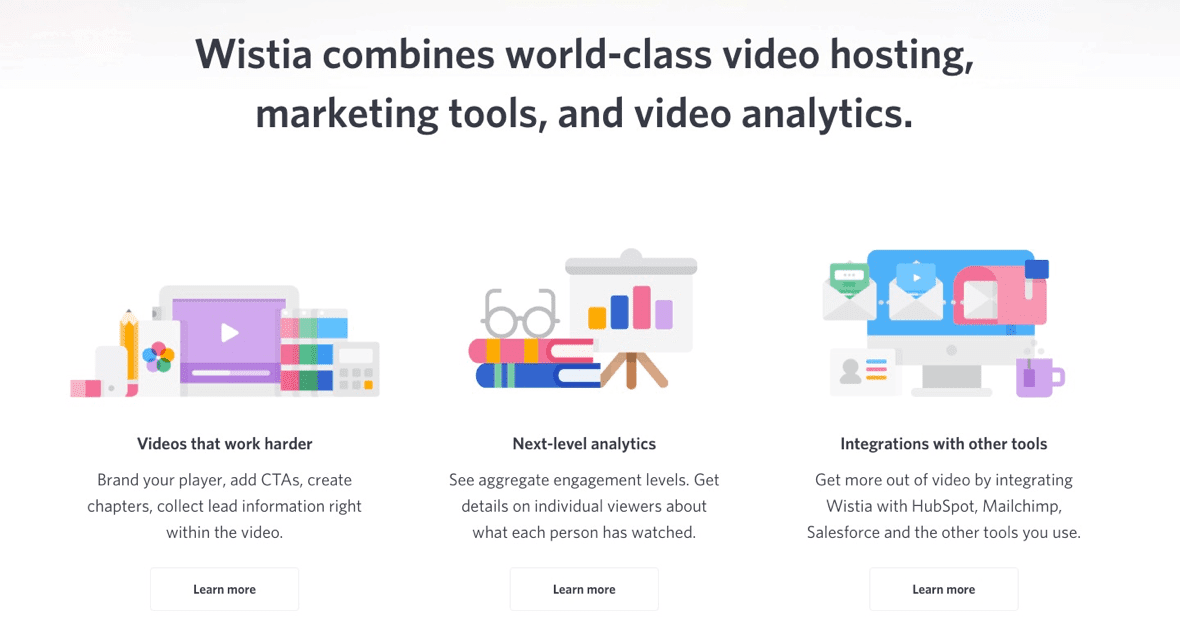 Wistia - user onboarding tools