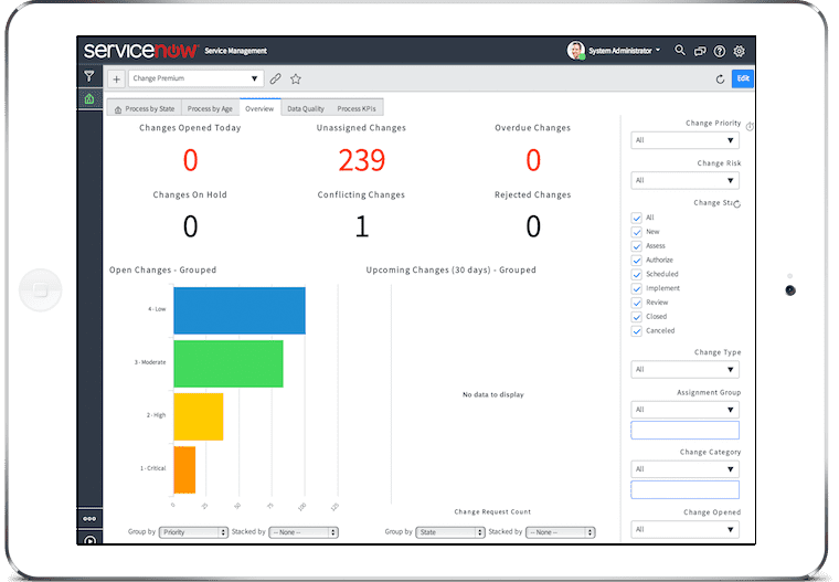 Top Change Management Tools - ServiceNow