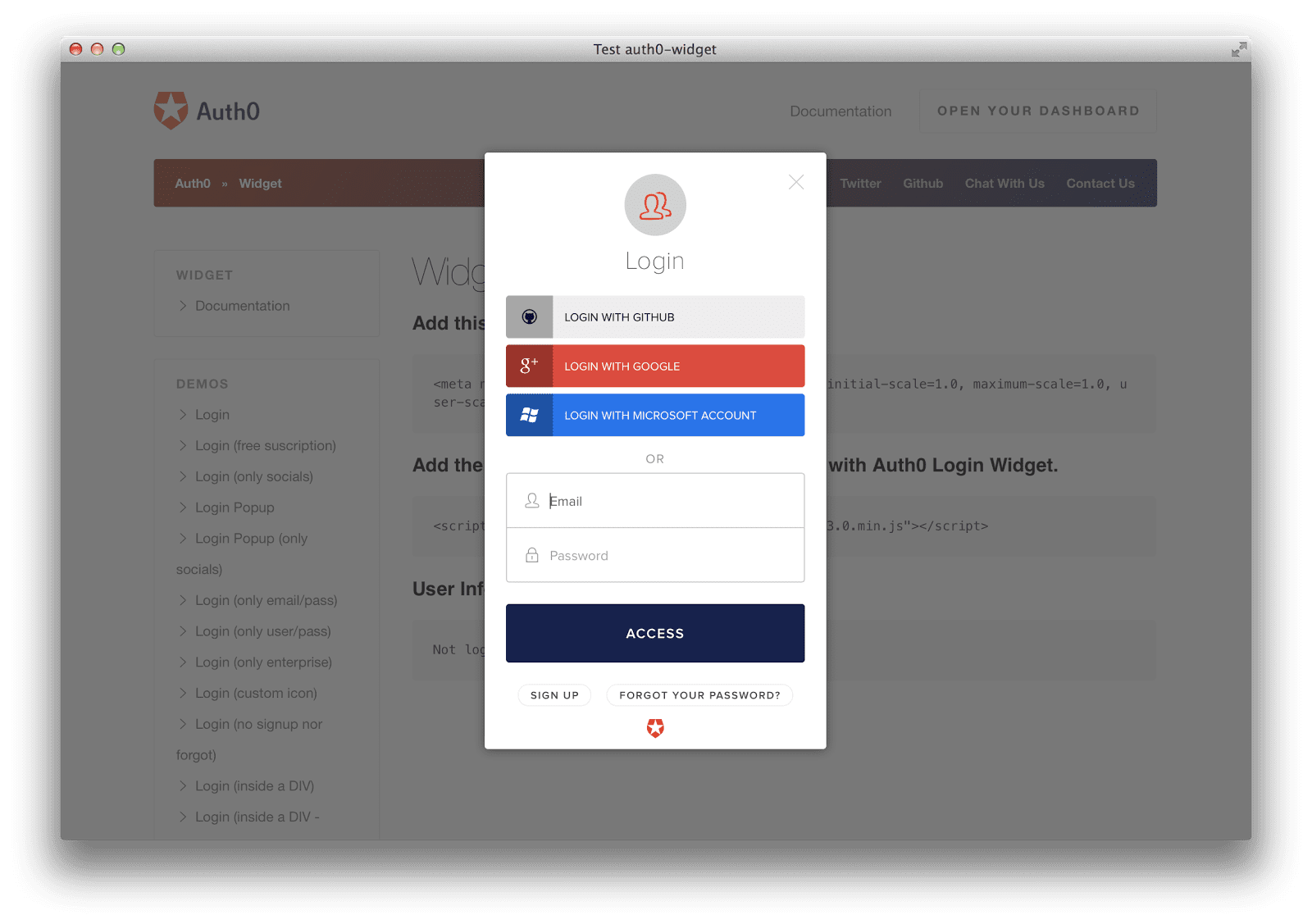 Auth0 - User Onboarding Tools