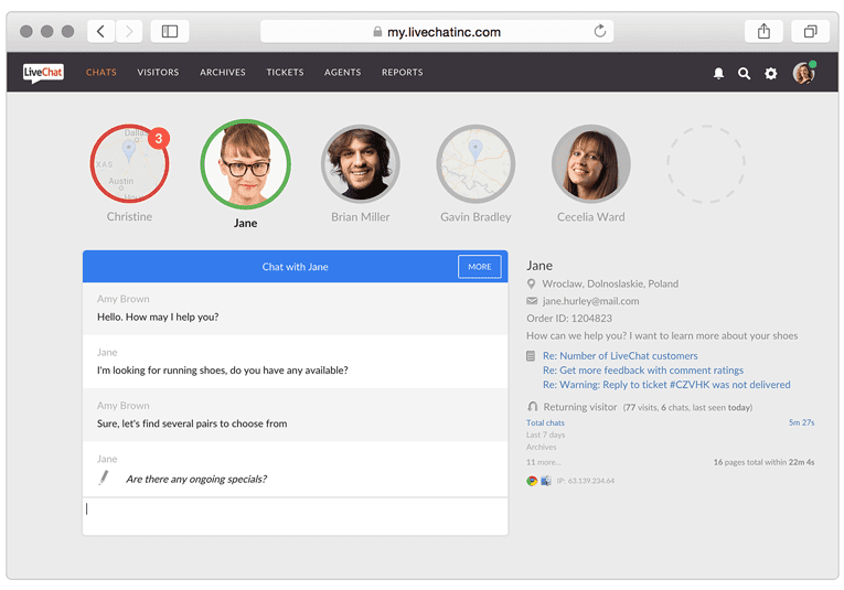 livechat - user onboarding tools