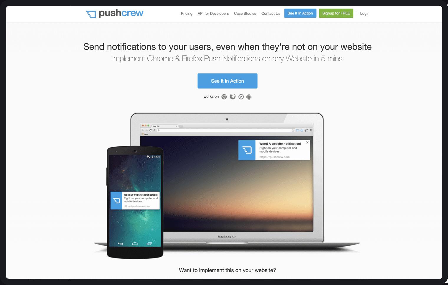pushcrew - user onboarding tools