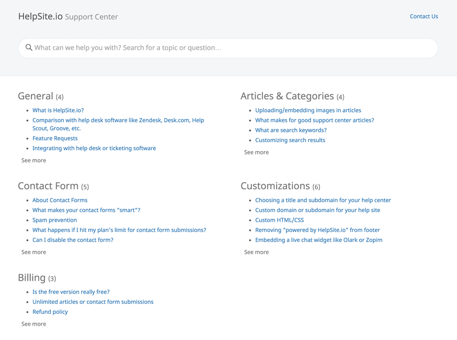 Customer support tools-helpsite
