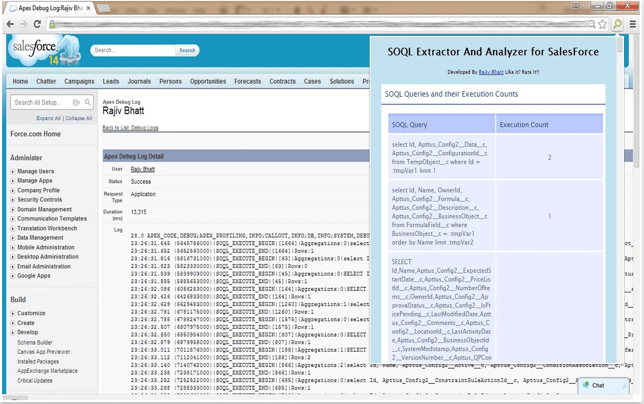 SOQL Extractor and Analyzer for SalesForce extension