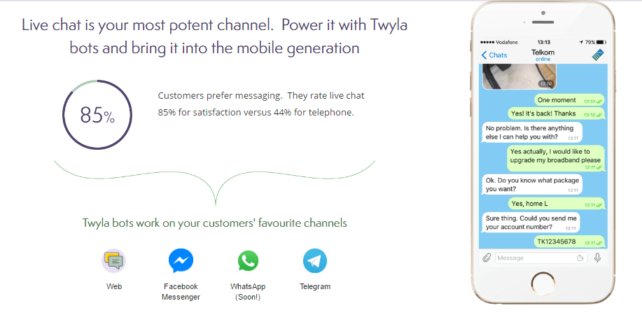 Customer support tools-twyla