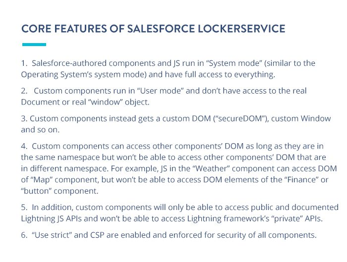 Core features of Salesforce LockerService