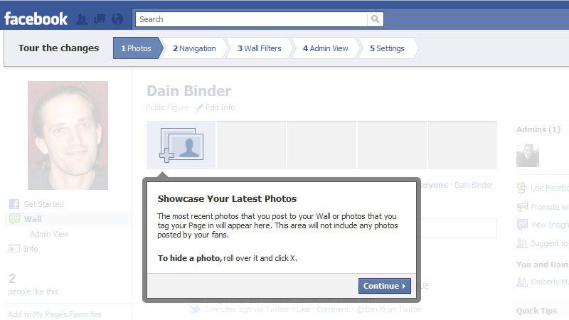 Facebook tooltip