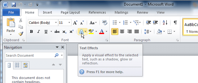 Microsoft's tooltip - Screen Tip