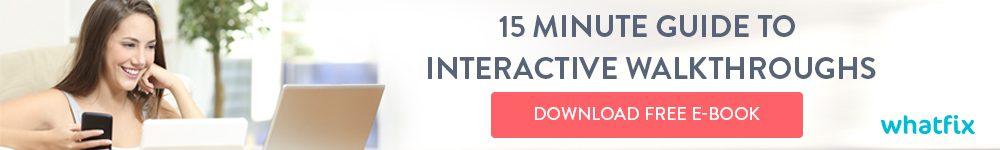 Interactive walkthrough Ebook - Product tour