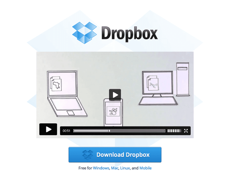 Dropbox explainer video - Product tour