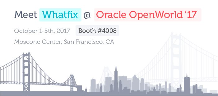 Whatfix Oracle OpenWorld 2017