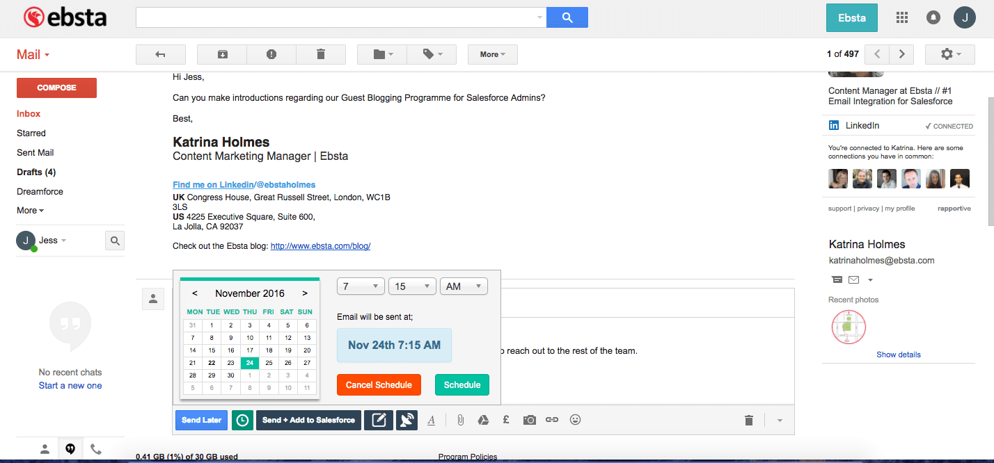 Salesforce AppExchange Apps - Ebsta
