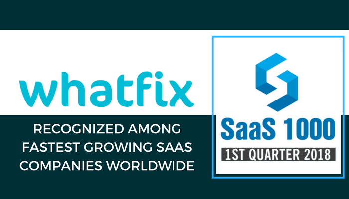 Whatfix Recognized Among Fastest Growing SaaS Companies - SaaS1000