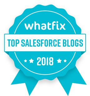 Top Salesforce Blogs 2018 - Badge of Honour