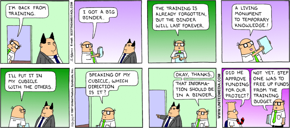 Employee training dilbert