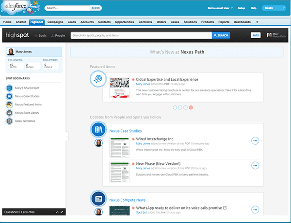 Highspot - 15 Salesforce Integrations for Sales Teams To Boost Productivity