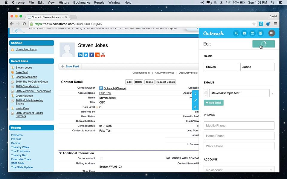 Outreach - 15 Salesforce Integrations for Sales Teams To Boost Productivity